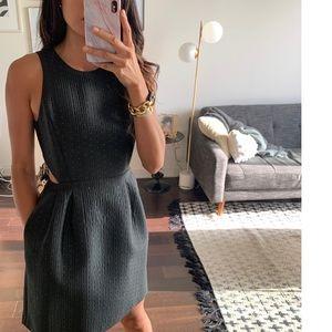 MADEWELL Metallic Jacquard Cut Out Dress. Size 0